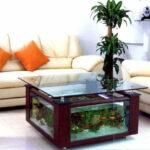 Журнальный столик-аквариум в форме квадрата