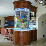 Акриловый аквариум в форме цилиндра